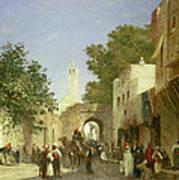 Arab Street Scene Poster