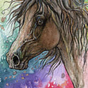 Arabian Horse And Burst Of Colors Poster