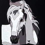 Arabian Horse With Hidden Picture Poster