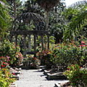 Arbor In The Rose Garden Poster