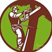 Arborist Tree Surgeon Trimmer Pruner Poster