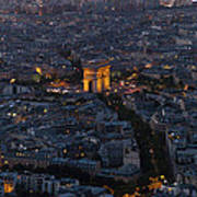 Arc De Triomphe From Above Poster