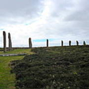 Arc Of Stones At The Ring Of Brodgar Poster