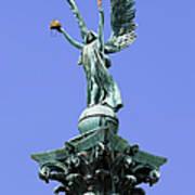 Archangel Gabriel Statue In Budapest Poster