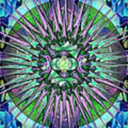 Archangels Gather Mandala Poster