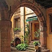 Arched Doorway In Kayserberg Poster