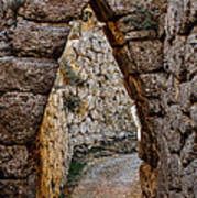 Arched Medieval Gate Poster