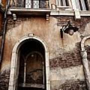 Arched Passage In Old Rustic Venetian House Poster