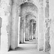 Arched Walkway At Entrance Of The Old Roman Colloseum At El Jem Tunisia Poster