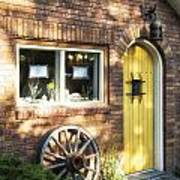 Arched Yellow Door Poster