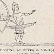Archers Practise At Butts Poster