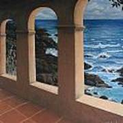 Arches Over The Ocean Poster