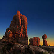 Arches After Sunset Poster