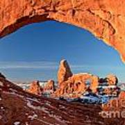 Arches Window Frame Poster