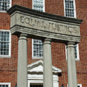 Architectural Columns With Equal Justice Poster