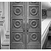 Architectural Triptych Poster
