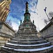 Architecture And Places In The Q.c. Series  Soldiers And Sailors Monument In Lafayette Square Poster