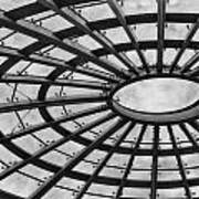 Architecture Ceiling In Black And White Poster