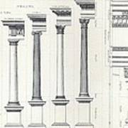 Architecture I Orders Of Architecture Engraved By Charles Lawrie Poster