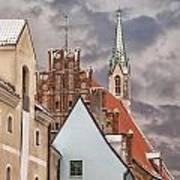 Architecture In Riga Latvia Poster