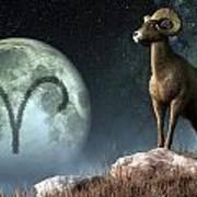 Aries Zodiac Symbol Poster