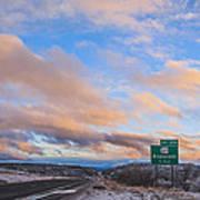 Arizona Highway Sunset Poster by Anthony Citro