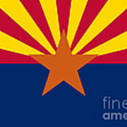 Arizona State Flag Authentic Color And Scale Version Poster