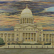 Arkansas State Capitol Poster by Mary Ann King