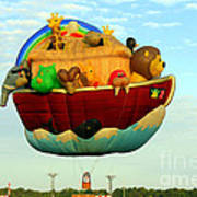 Arky Hot Air Balloon Poster