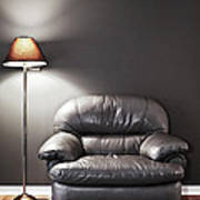 Armchair And Floor Lamp Poster