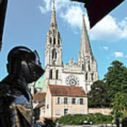 Armor And Chartres Cathedral Poster
