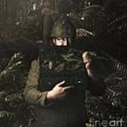 Army Soldier With Security Screen Saver Poster