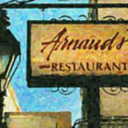 Arnauds New Orleans_oil Digital Art Poster