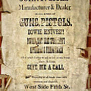 Arrow Rock - Gunsmith Sign Poster