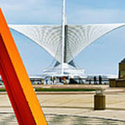 The Milwaukee Art Museum By Santiago Calatrava Poster