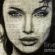 Art In The News 44- Angelina Jolie Poster