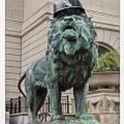 Art Institute Lion Poster