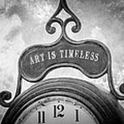 Art Is Timeless Poster