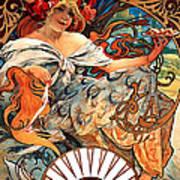 Art Nouveau Biscuit Ad 1897 Poster