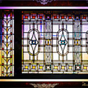 Art-nouveau Stained Glass Window Poster