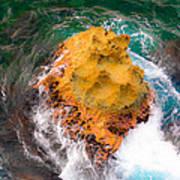 Art Of Rocks At Waianae Coast Poster