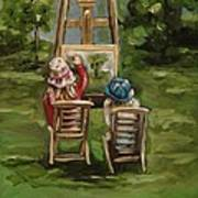 Art Of Teaching Oil Painting Poster