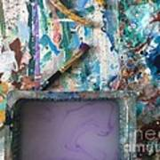 Art Table With Water And Brush Poster