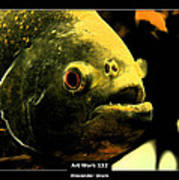 Art Work 132 Piranha Poster