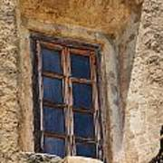 Artful Window At Mission San Jose In San Antonio Missions National Historical Park Poster