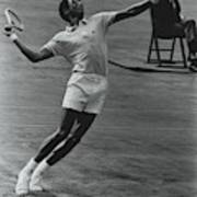 Arthur Ashe Playing Tennis Poster