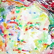 Arthur Rimbaud Watercolor Portrait Poster