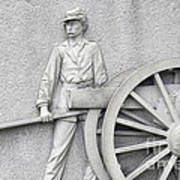 Artillery Detail On Monument Poster