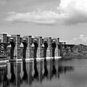 Artisan Lakes Bridge 1bw Poster