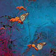 Artistic Butterflies Poster